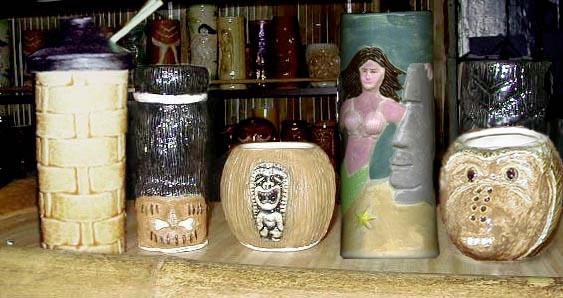 Tiki King's luau 2000 Tiki Mugs