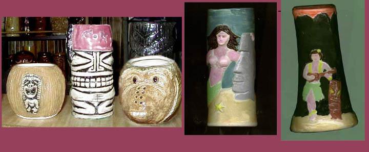 Tiki King's luau 2001 Tiki Mugs