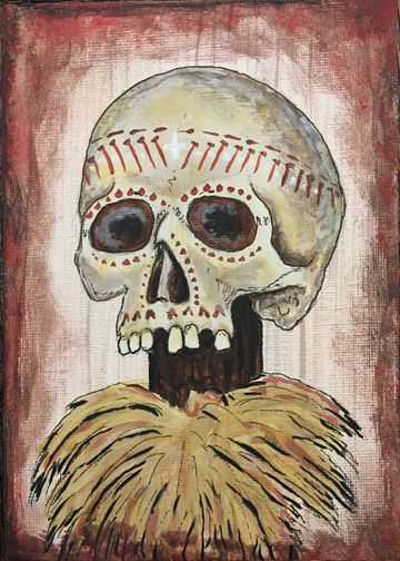 adventureland skull, a painting by Tiki King