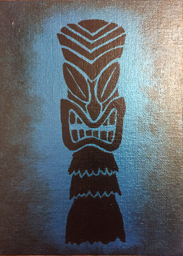 blue al, a painting by Tiki King