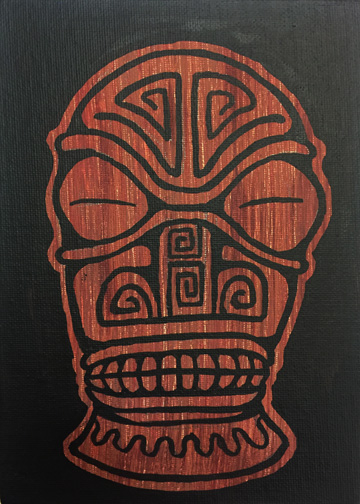blue blinky, a painting by Tiki King