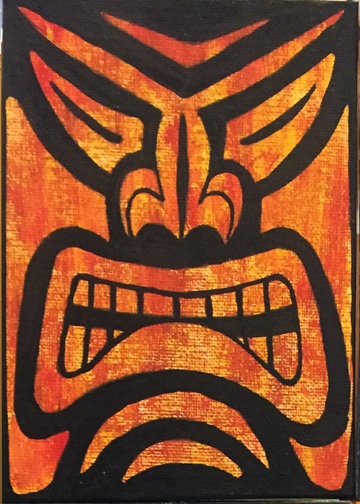 a painting by Tiki King