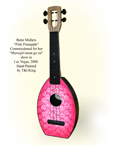 Bette Midlers pink pineapple Flea Ukulele