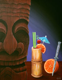 Blood Orange, a painting by Tiki King