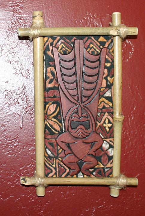 Ku wall plaque by Tiki King