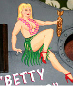 Betty Danger, an art pin-up ukulele by Tiki King