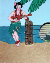 Cigarbox  Art Ukulele #1 by Tiki King