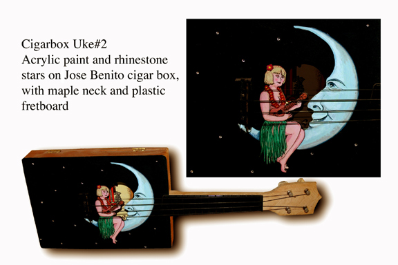 Cigarbox Art Ukulele #2 by Tiki King