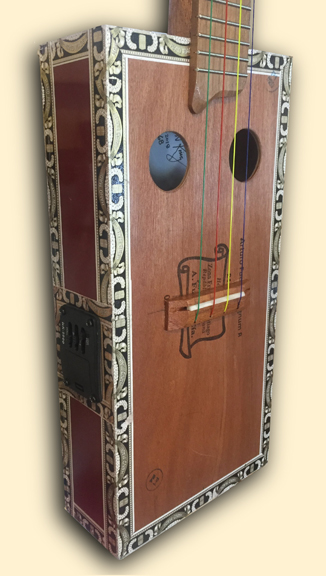 Haunted Mansion inspired Banjo Uke tailpiece detail