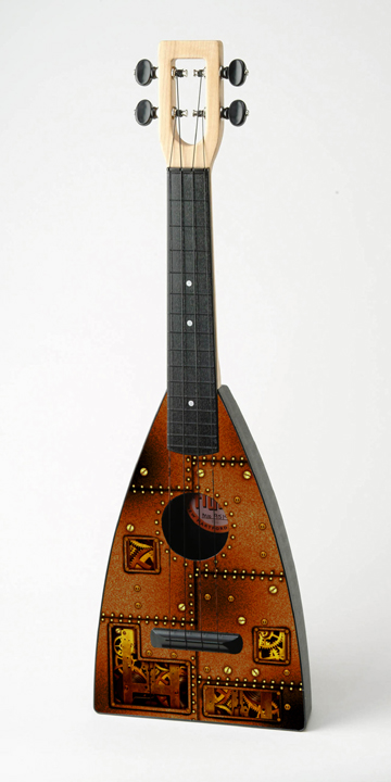Steampunk/Clockwork fluke Ukulele by Tiki King