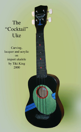 Tiki King's cocktail theme ukulele