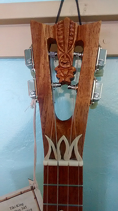 compass theme Banjo Uke headstock by Tiki King, from: www.tikiking.com