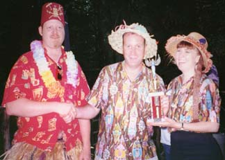 dave and carrie at Tiki King's luau 1997