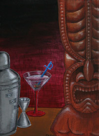 Eight to one, a painting by Tiki King