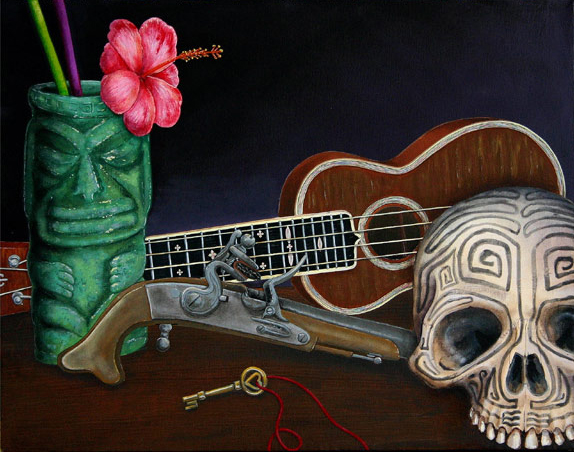 Inspiration, a painting by Tiki King