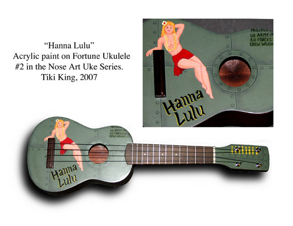 Tiki King's pin-up art ukulele, betty danger