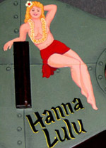 Hanna Lulu, an art pin-up ukulele by Tiki King