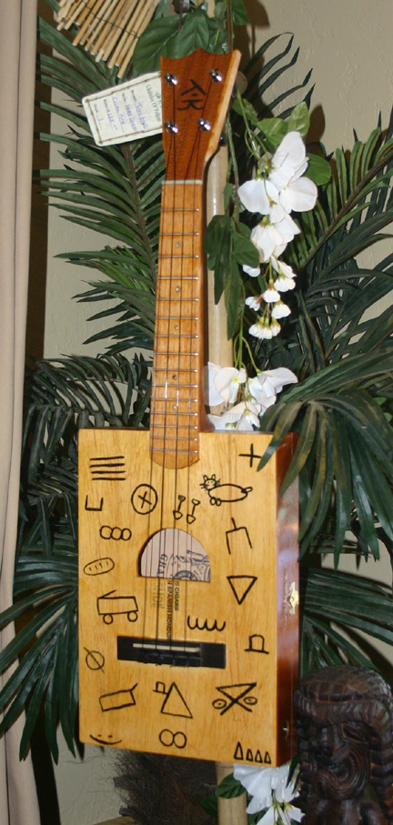 Tiki King Custom hobo electric gigarbox Ukulele