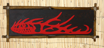 Kahiki Fire Fish wall plaque by Tiki King