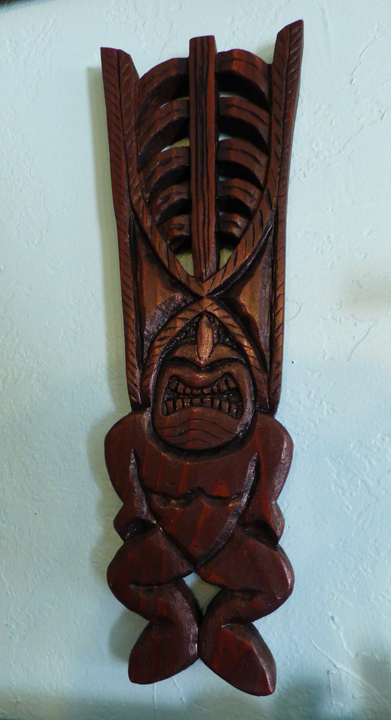Pine Ku 6, a carving by Tiki King