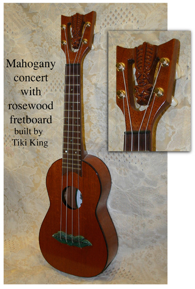 concert Tiki ukulele