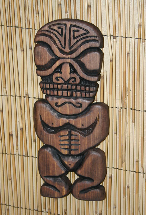 Marquesean style Tiki wall carving by Tiki King