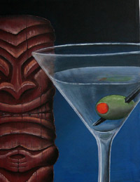 Tiki with Martini