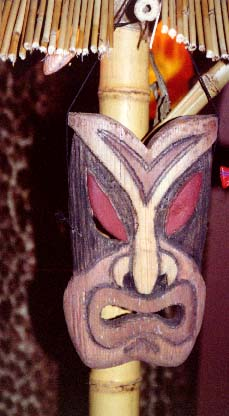 Tiki Mask 2, a carving by Tiki King