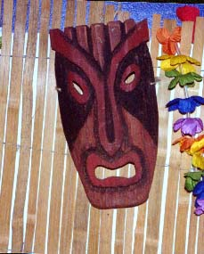 mask 3, a carving by Tiki King