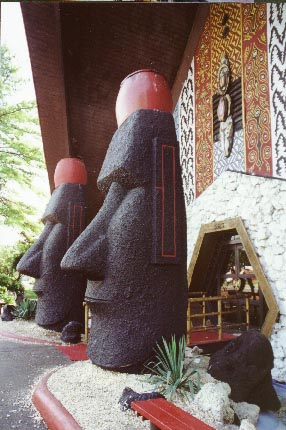 the Moai outside the Kahiki