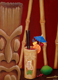 Ottos downfall, a painting by Tiki King