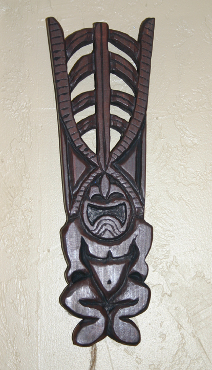 Pine Ku 3, a carving by Tiki King