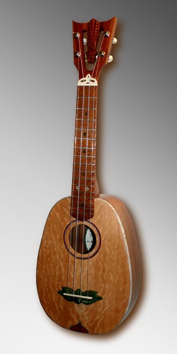 Custom pineapple shape Ukulele #31, Built by Tiki King, 2012