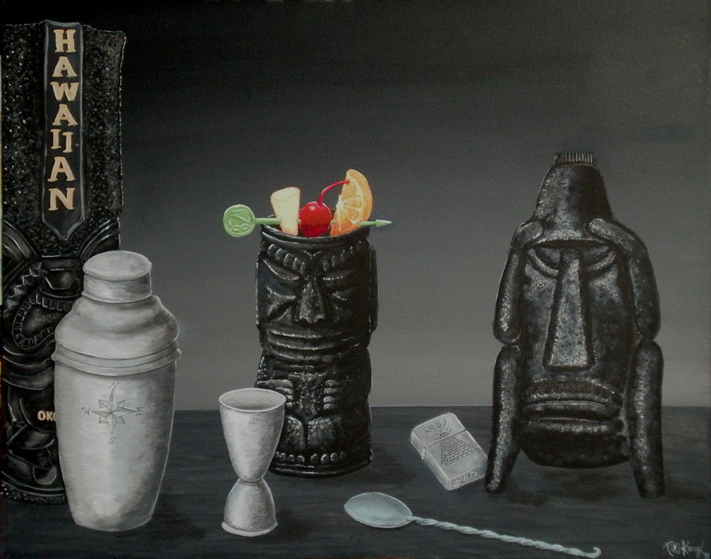 Points East, a painting by Tiki King