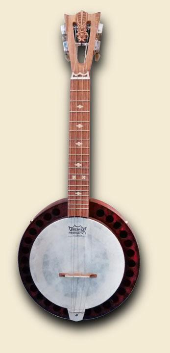red patina Banjo Uke