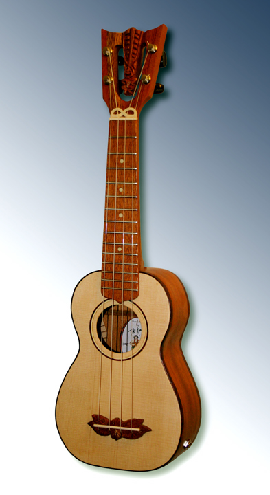Custom soprano Ukulele #32, Built by Tiki King, 2012