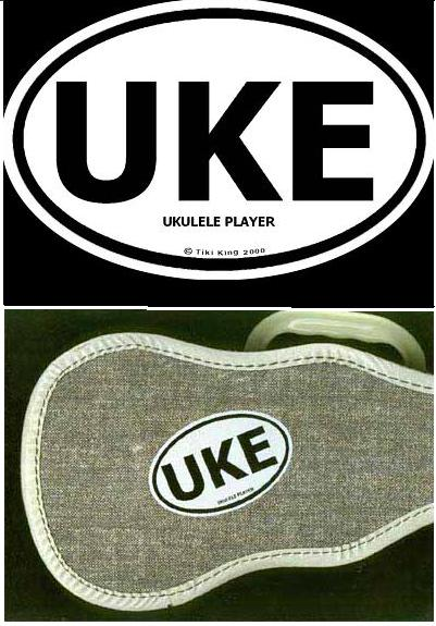 UKE Sticker on Ukulele case