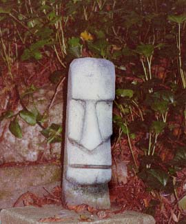 concrete Tiki 1, a carving by Tiki King