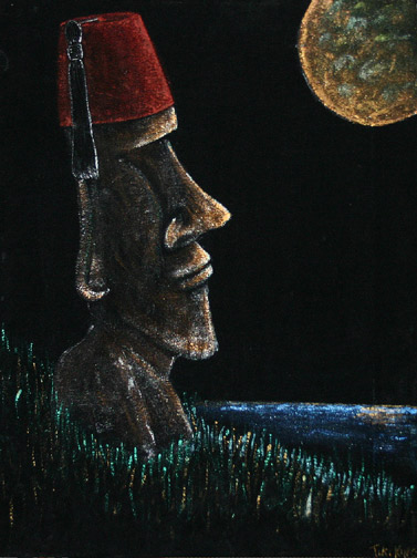 They wore Hats, a painting by Tiki King