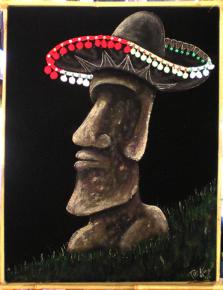 They wore Hats 2, a painting by Tiki King