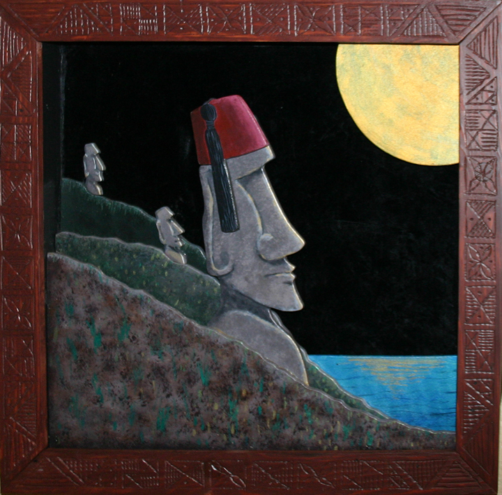 They wore hats 3D, a painting by Tiki King