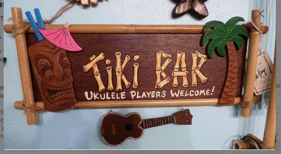 tiki bar sign, mixed media by Tiki King