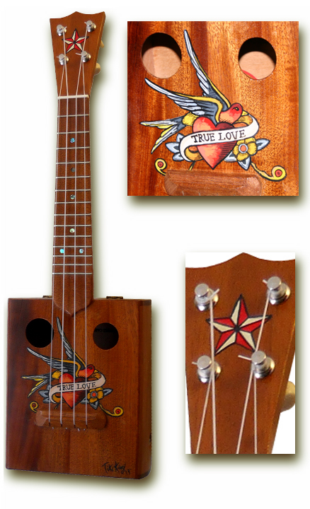 true love tattoo cigarbox Ukulele