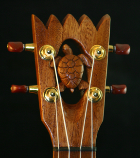 Turtle Ukulele headstock by Tiki King
