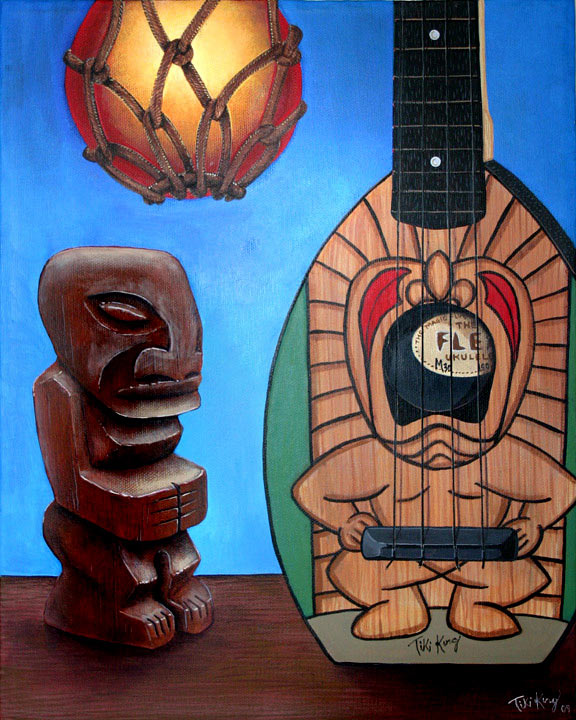Ty's Tiki's, a painting by Tiki King