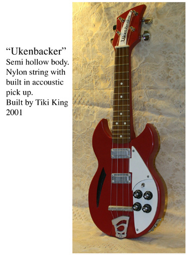 Ukenbacker, art ukulele by Tiki King