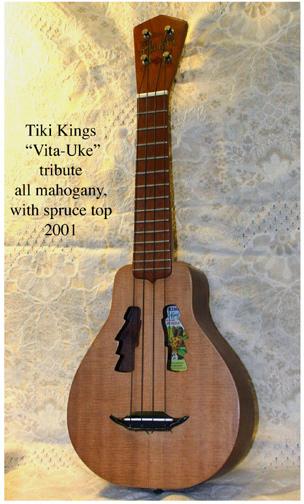 Tiki King's Vita Uke tribute ukulele