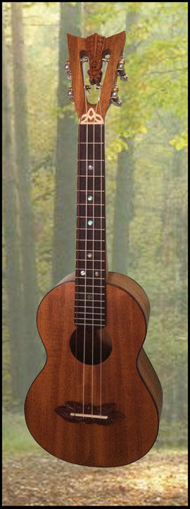 Mahogany Tenor Ukulele, Built by Tiki King, 2016
