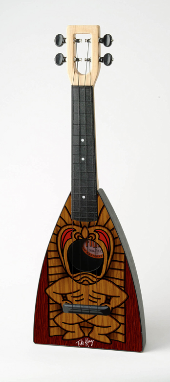 wood Tiki Fluke by Tiki King